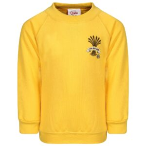 PHS Nursery + Kindergarten Gold Sweatshirt with Mouse logo.