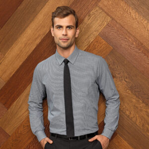 Premier Microcheck (Gingham) Long Sleeve Cotton Shirt