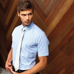 Premier Microcheck (Gingham) Cotton Short Sleeve Shirt