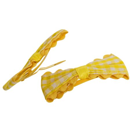Gingham Bow Clip